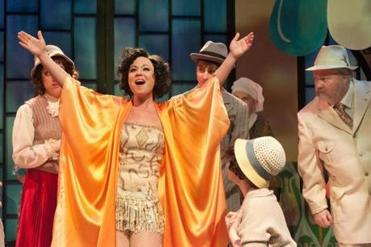 "McCaela Donovan as the follies star in ""The Drowsy Chaperone"" at SpeakEasy Stage Company. She graduated from college here."